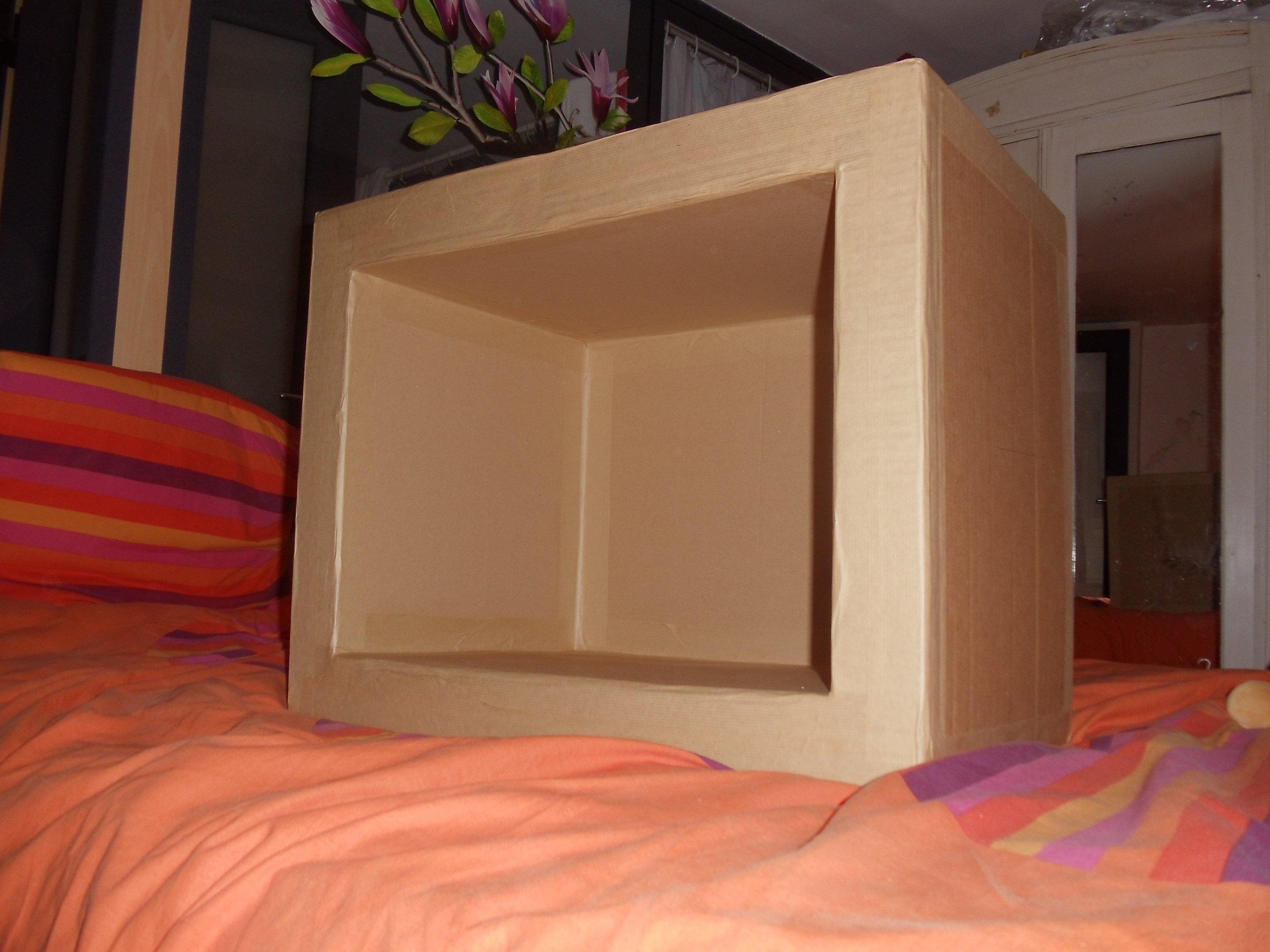 Fabriquer Une Bibliothèque En Carton meuble en carton - débuter et faire son premier meuble (très
