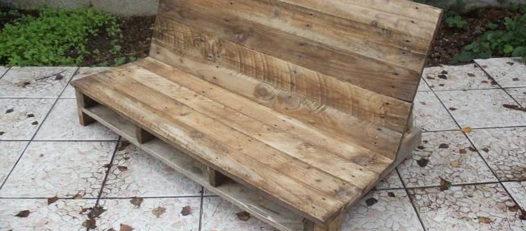 Fabriquer un canapé de jardin en palette