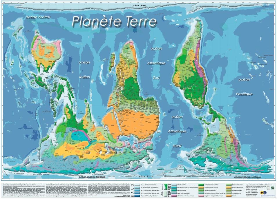 """Le planisphère """"Planète terre"""" de Gérad Onesta"""