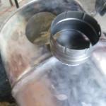 Découpe du tuyau de cendrier