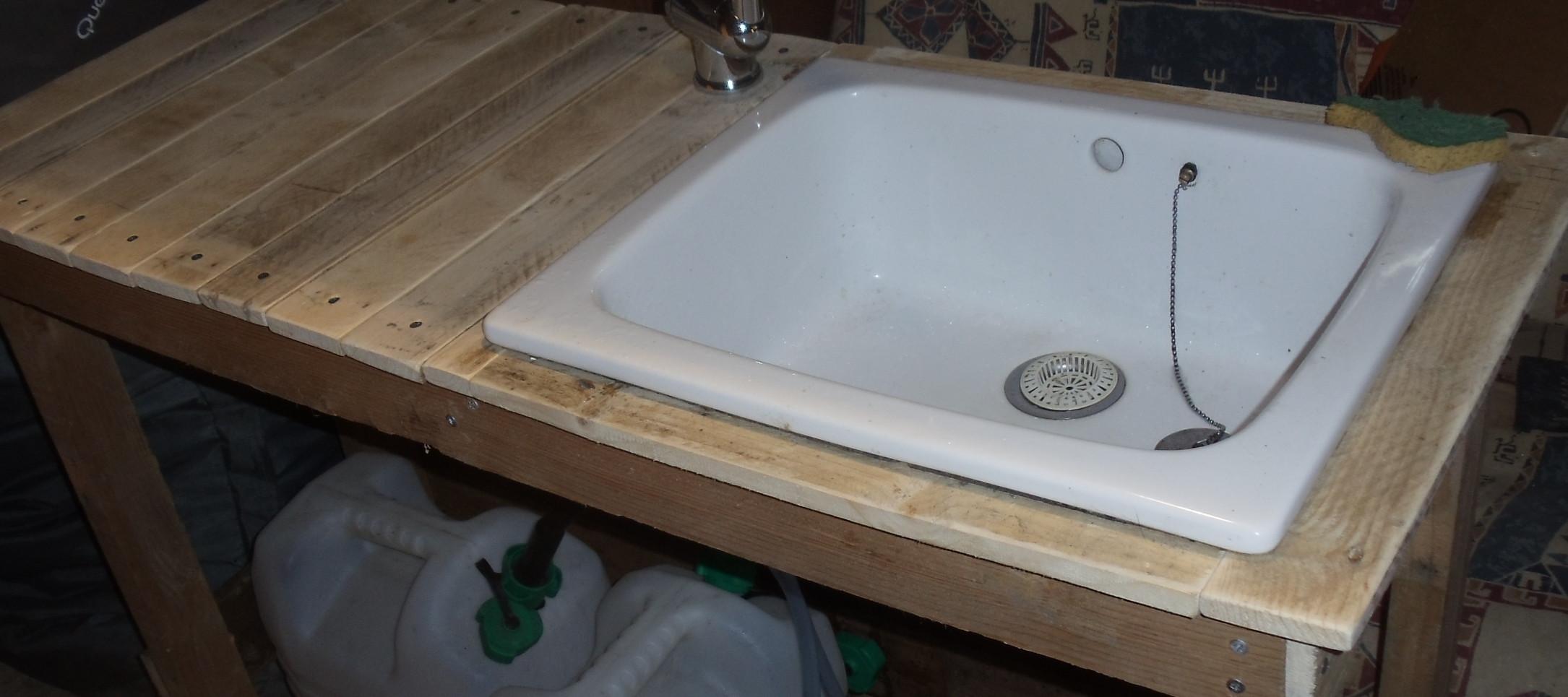 Comment Faire Un Rideau Sous Evier Évier/lavabo sans eau courante ni électricité : david mercereau