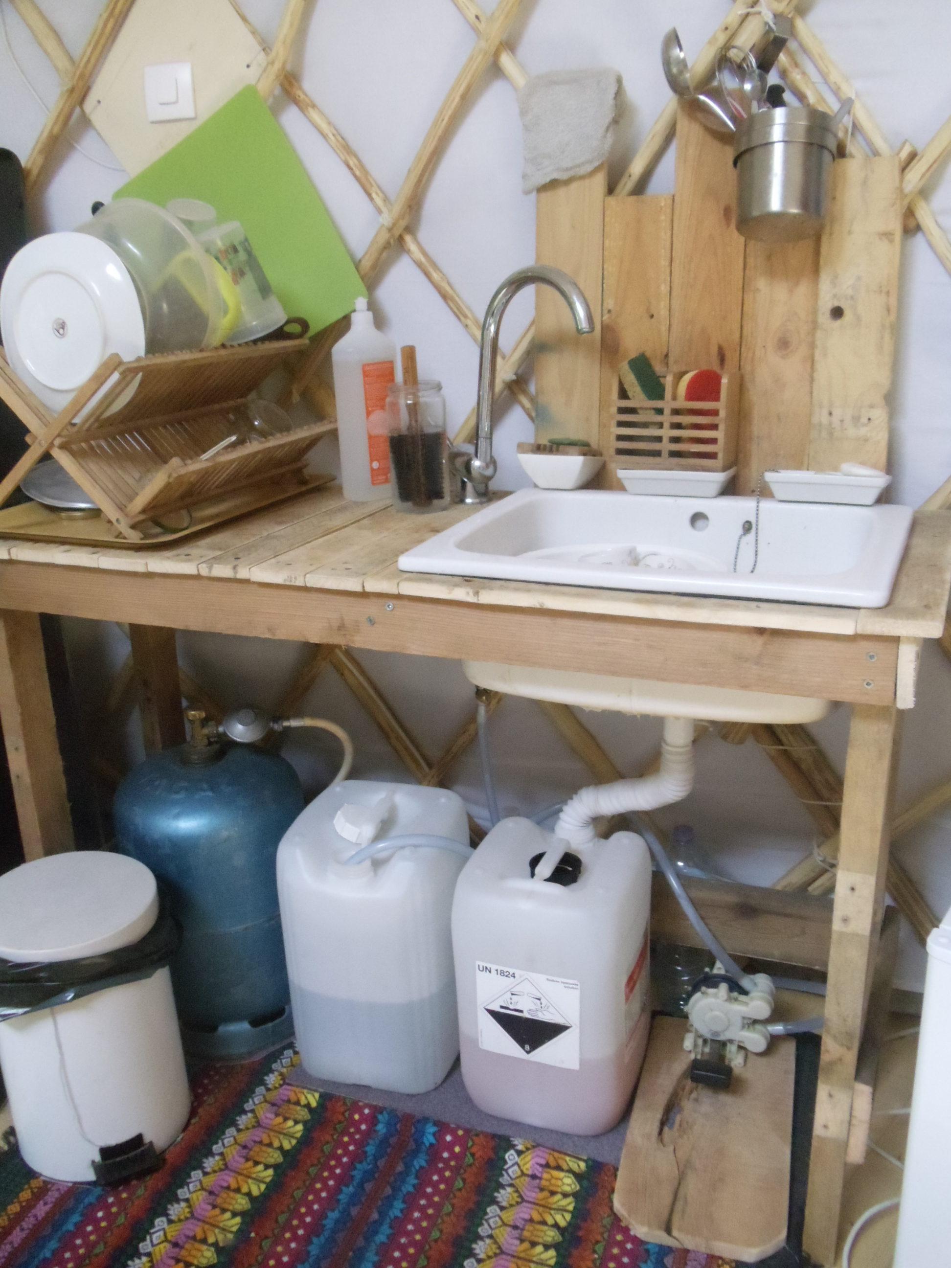 Comment Installer Un Lave Main Avec Meuble Évier/lavabo sans eau courante ni électricité : david mercereau