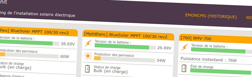 PvMonit – Monitoring de mon installation photovoltaïque autonome