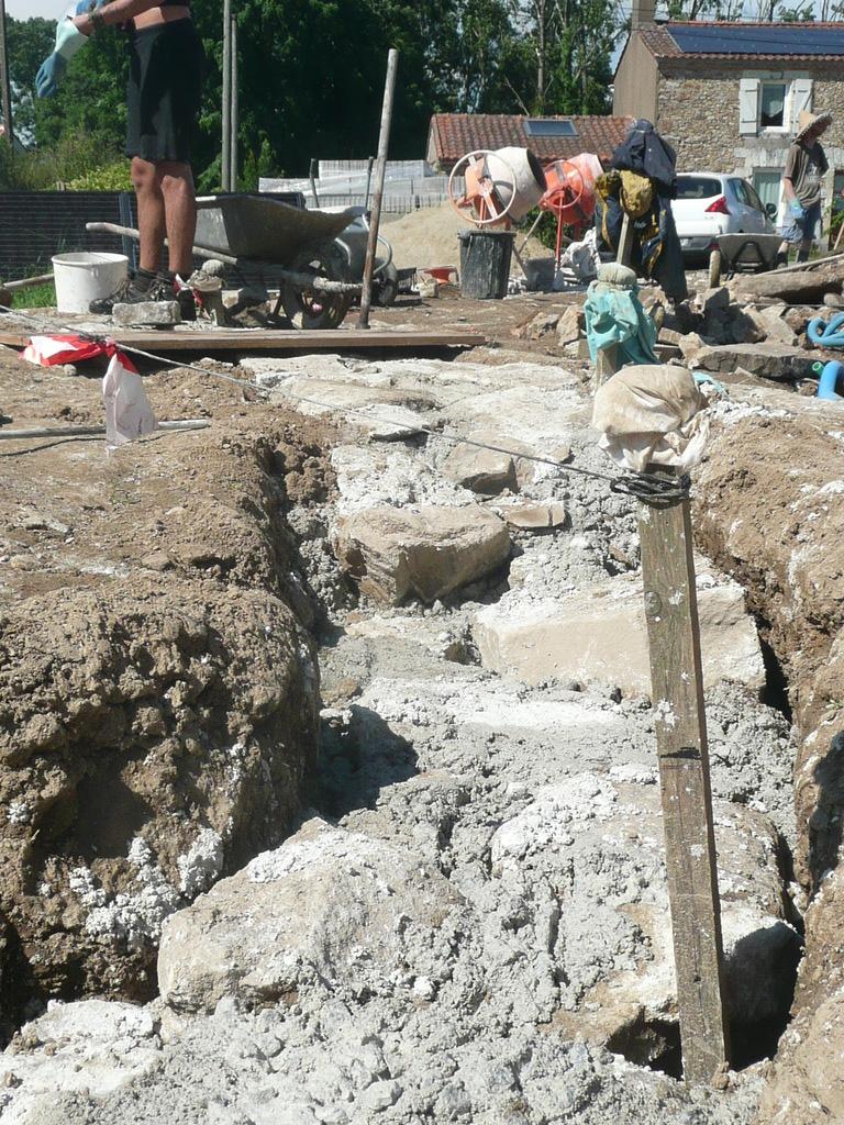 Refaire Fondation Maison Ancienne chantier fondation à l'ancienne : david mercereau