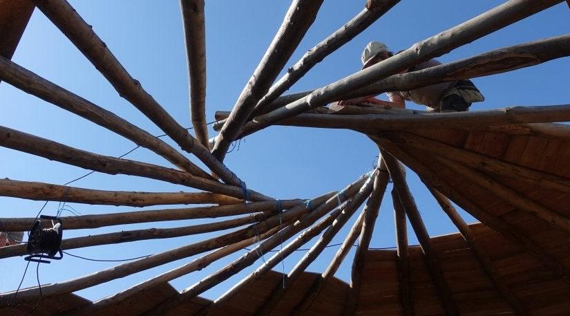 Détails de la/ma paillourte – le toit